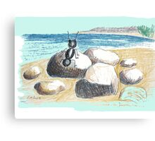 AN ANT ON THE SEASIDE Canvas Print