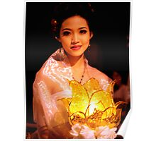 Portrait of a Lady, Songran, Chiang Mai, Thailand Poster