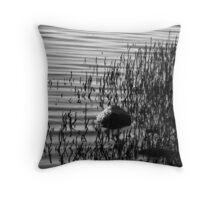 B&W Rock Mangrove Throw Pillow