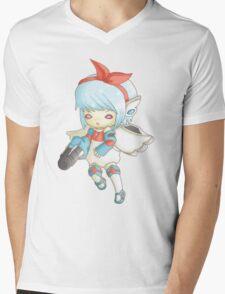 Semi Mecha School Girl Mens V-Neck T-Shirt