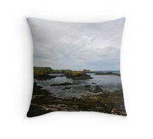 ballintoy harbour Throw Pillow