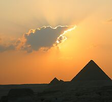 Egyptian Sunset Behind Cloud by Donna Corless