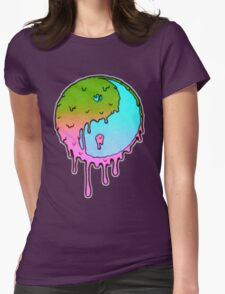Psychedelic Yin-Yang Womens Fitted T-Shirt