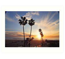 Manhattan Beach  Palm Trees  Art Print