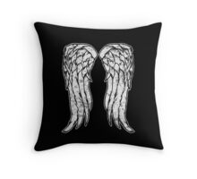 Daryl Dixon Angel Wings - The Walking Dead (dirty) Throw Pillow