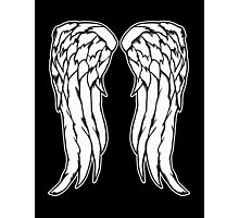 Daryl Dixon Angel Wings - The Walking Dead Photographic Print