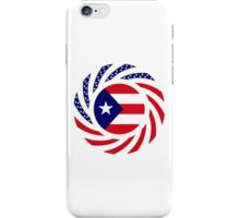 Puerto Rican American Multinational Patriot Flag Series iPhone Case/Skin