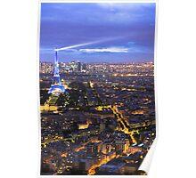 Blue Parisian nightsky I Poster