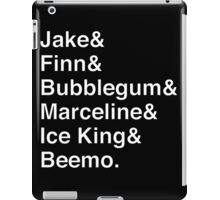 ADVENTURE TIME Helvetica Names List iPad Case/Skin