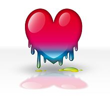 multicolored heart dripping by alicara