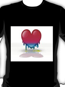 multicolored heart dripping T-Shirt