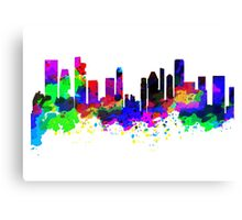 Singapore Skyline in Water Colour Canvas Print