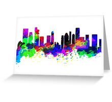 Singapore Skyline in Water Colour Greeting Card