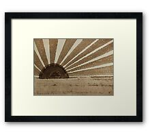 Sepia Sunset original painting Framed Print