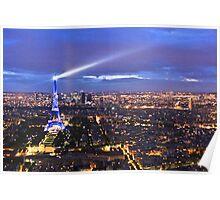 Blue Parisian nightsky III Poster