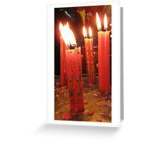 Candles at the Jade Pagoda Palace, HCMC Greeting Card
