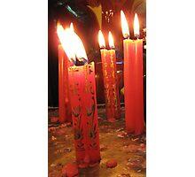 Candles at the Jade Pagoda Palace, HCMC Photographic Print
