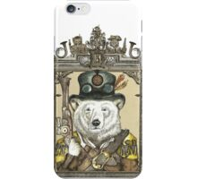 Polar Bear Warden with Frame iPhone Case/Skin