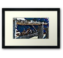 Bums, Boots and Spurs Framed Print