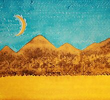 Mojave Moonrise original painting by CrowRisingMedia