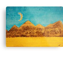 Mojave Moonrise original painting Metal Print