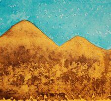 Mojave Moonrise original painting Sticker