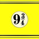 9 3/4 - Yellow & Black by Serdd