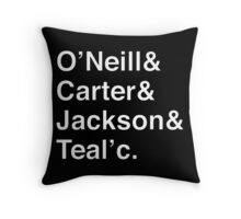STARGATE SG1 Helvetica Names List Throw Pillow