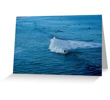 Blue Water Bondi Beach Greeting Card