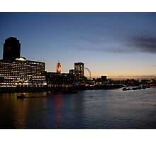 Thames, London at sunset Photographic Print