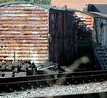 Old carraiges used as storage Stephenson Railway Museum North Shields by Jackie Wilson
