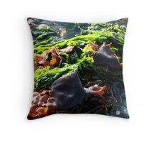 Colors Of Seaweed Throw Pillow