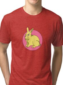 RABBIT BUNNY  PINK  Tri-blend T-Shirt