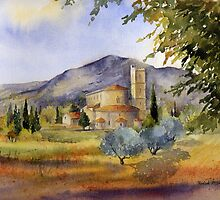 San Antimo Abbey Tuscany by artbyrachel