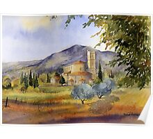 San Antimo Abbey Tuscany Poster