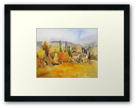 Autumn Colours Tuscany by artbyrachel