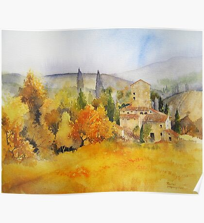 Autumn Colours Tuscany Poster
