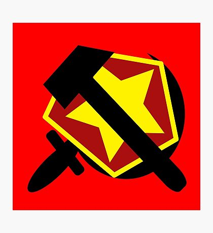 HAMMER  SICKLE AND RED STAR Photographic Print