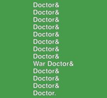 DOCTOR WHO Helvetica Names List Kids Clothes