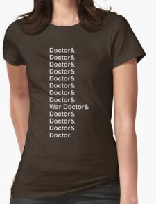 DOCTOR WHO Helvetica Names List T-Shirt