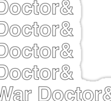 DOCTOR WHO Helvetica Names List Sticker