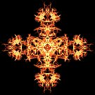 Energetic Geometry -  Phoenix Sigil Cross of Fire by Leah McNeir