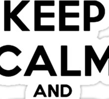 Keep Calm and Aim to Misbehave Sticker