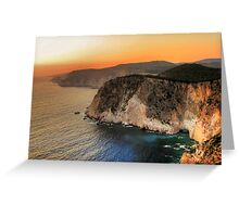 Greek sunset Greeting Card