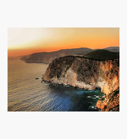 Greek sunset Photographic Print