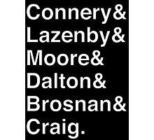 JAMES BOND Helvetica Names List Photographic Print
