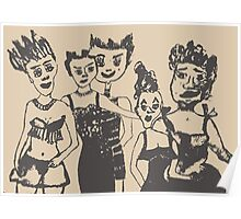 Ladies by Rindje & Toussaint Poster