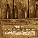 Laying Down the Law - Sepia Tinted by Robert Armendariz