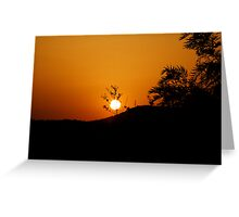 Sunset at Alentejo Greeting Card