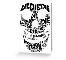 Die Die My Darling Sticker Greeting Card